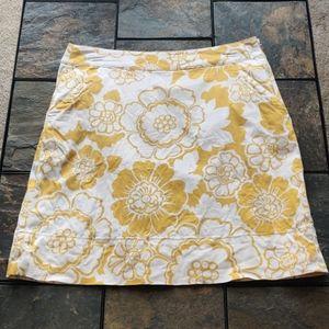 Boden Floral Print Goldenrod Mini Skirt Pockets 8